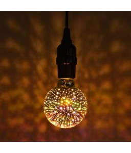 G80 Colorful 3D Glass Firework LED Bulb Christmas Decoration