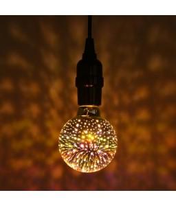 G80 Colorful 3D Glass Firework LED Bulb Christmas Decoration