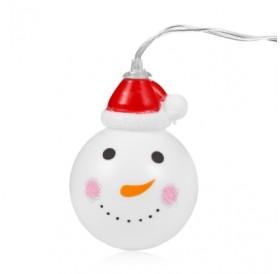 1.2M 10 LEDs Snowman Light String