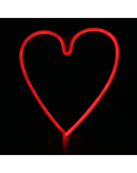 Creative LED Heart Shape Neon Night Light Wall Lamp Holiday Decorations
