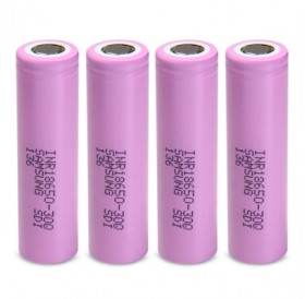 4pcs INR18650 - 30Q 3.7V 3000mAh 18650 Rechargeable Li-ion Battery