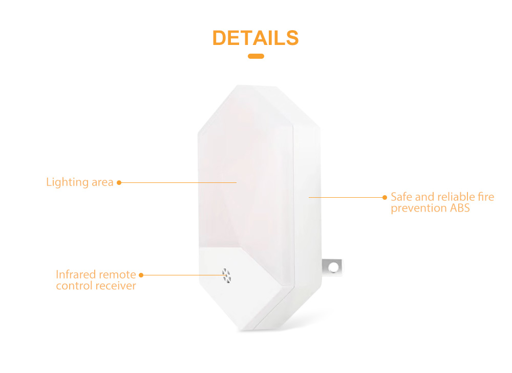 AC100V - 240V 1W Intelligent Light Control Diamond Style with 16 Colors